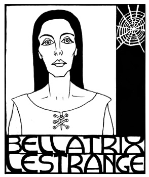 Bellatrix Lestrange, copyright Red Scharlach.