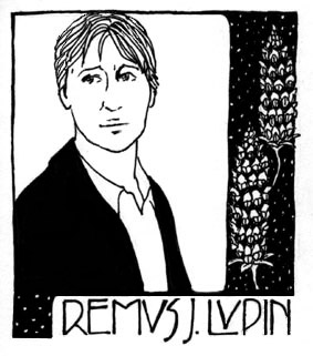 Drawing of Remus Lupin.