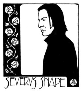 Drawing of Severus Snape by Red Scharlach.