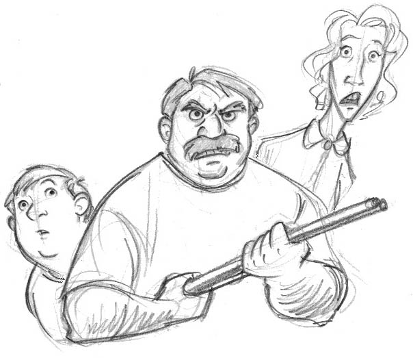 Dudley, Vernon and Petunia Dursley, copyright Tealin Raintree.