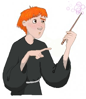 Ron with malfunctioning wand