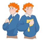Fred and George, copyright Tealin.