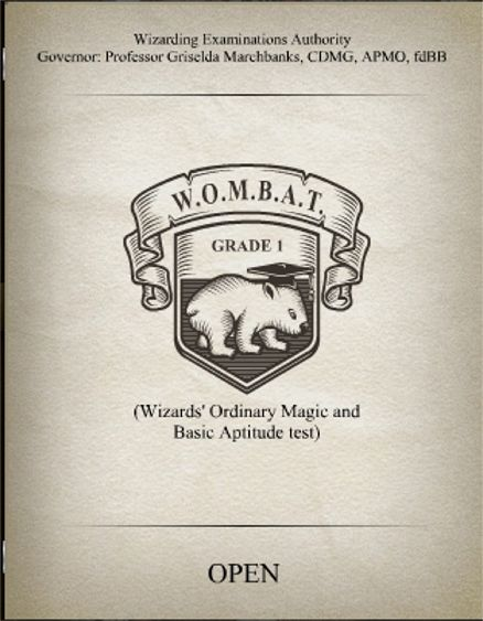 WOMBAT Grade 1 Cover